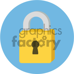 padlock circle background vector flat icon clipart. Commercial use image # 405794