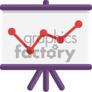 chart vector flat icon clipart. Commercial use image # 405799