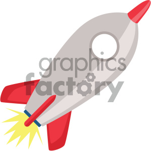 rocket vector flat icon clipart. Commercial use image # 405826
