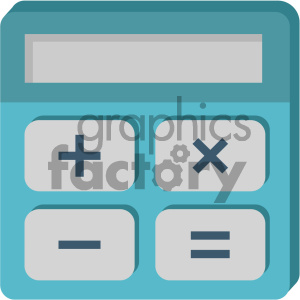 calculator vector flat icon clipart. Royalty-free image # 405831