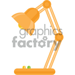 desk lamp vector flat icon clipart. Royalty-free image # 405866