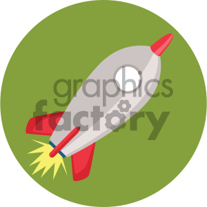 rocket circle background vector flat icon clipart. Commercial use image # 405876