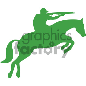 hunting on horseback vector art clipart. Royalty-free image # 405906
