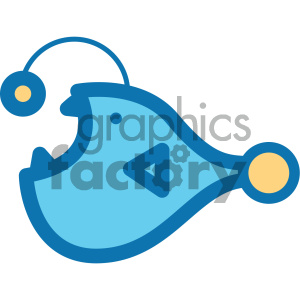 angler fish ocean icon clipart. Commercial use icon # 405922