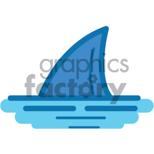 shark fin ocean icon clipart. Commercial use image # 405927
