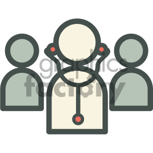 doctors medical vector icon clipart. Royalty-free image # 405946
