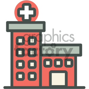 hospital medical vector icon clipart. Royalty-free image # 405962