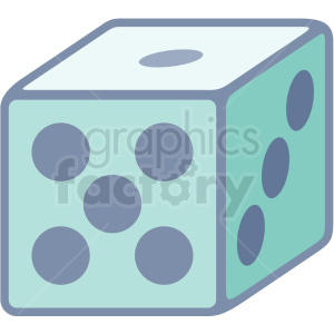 dice icon clipart. Royalty-free image # 406031