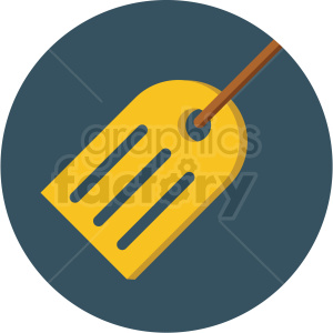 travel tag icon with blue circle background clipart. Commercial use image # 406052