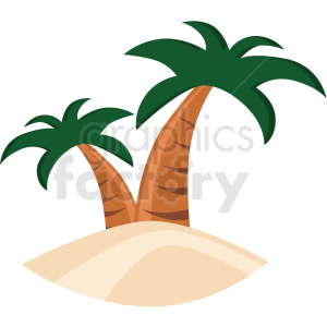 tropical island icon clipart. Royalty-free image # 406093