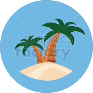 tropical island icon with circle background clipart. Royalty-free image # 406094