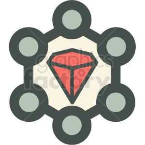 monocrystalline technology icon clipart. Royalty-free image # 406180