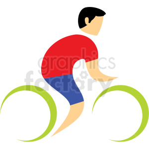 bicyclist sport icon clipart. Royalty-free image # 406215