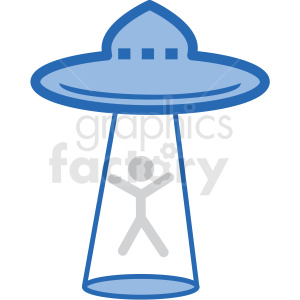 ufo abduction vector icon clipart. Commercial use image # 406223