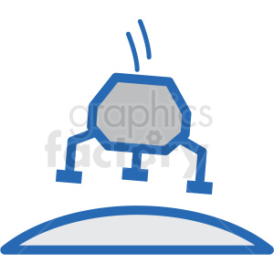 moon landing vector icon clipart. Commercial use image # 406227