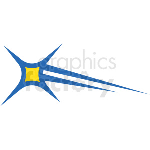 shooting star vector icon clipart. Royalty-free image # 406243