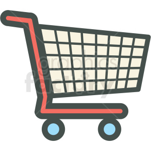 shopping cart vector icon clip art clipart. Royalty-free icon # 406258