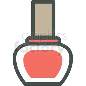 nail polish vector icon clip art clipart. Royalty-free image # 406261