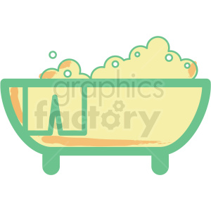 bathtub flat vector icon clipart. Commercial use image # 406325