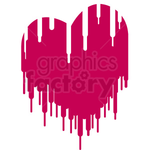 melted heart vector design