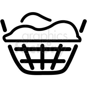 laundry basket clipart. Commercial use icon # 406383