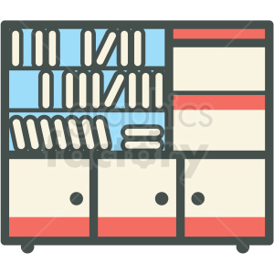 bookshelf vector icon clipart. Royalty-free image # 406409