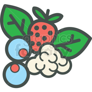 bunch of berries vector icon clipart. Commercial use image # 406431