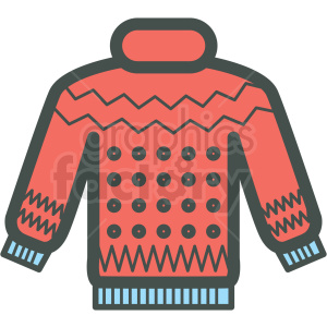winter sweater vector icon clipart. Royalty-free image # 406439
