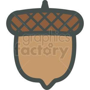acorn vector icon clipart. Commercial use image # 406443