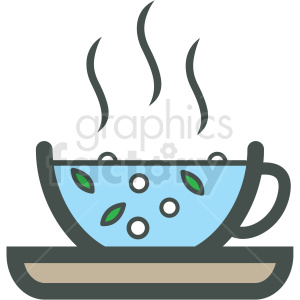 cup of tea vector icon clipart. Royalty-free image # 406449