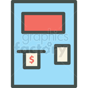 atm machine vector icon clipart. Royalty-free image # 406457