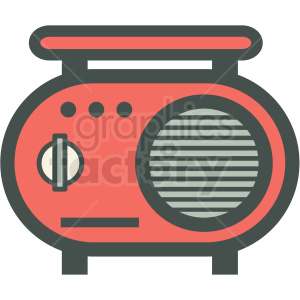 vintage radio vector icon image clipart. Commercial use image # 406585