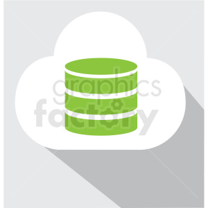 cloud storage icon clip art clipart. Royalty-free image # 406631