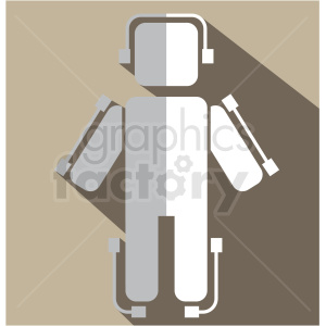 exoskeleton vector icon clip art clipart. Commercial use image # 406640