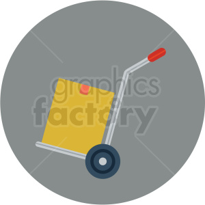 hand moving dolly vector flat icon clipart with circle background clipart. Commercial use image # 406677