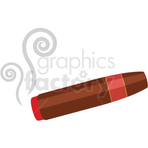 cigar vector flat icon clipart with no background clipart. Royalty-free image # 406691