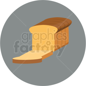 loaf of bread vector flat icon clipart with circle background clipart. Commercial use image # 406705
