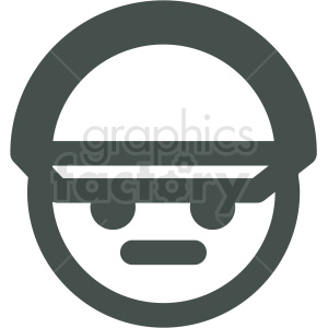 man wearing hat avatar vector icons clipart. Royalty-free image # 406790