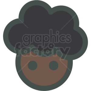 black girl with big hair avatar vector icons clipart. Commercial use image # 406821