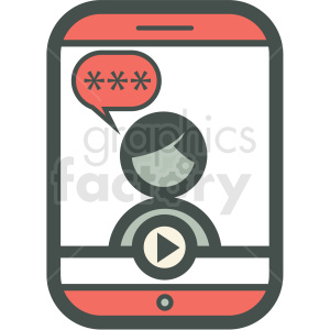 social media chat smart device vector icon