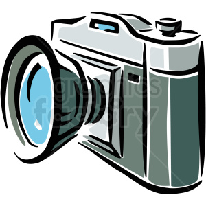 A Simple Camera with Turquoise lens clipart. Commercial use image # 156271