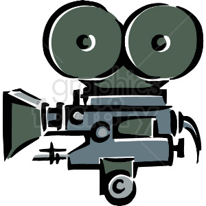 A Movie Camera for Movies clipart. Royalty-free image # 156304