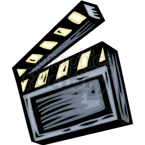 A Film Directors tool for calling action or cut A Film Marker clipart. Royalty-free image # 156327