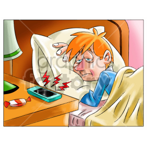 kid getting up in the morning clipart clipart. Royalty-free image # 407054