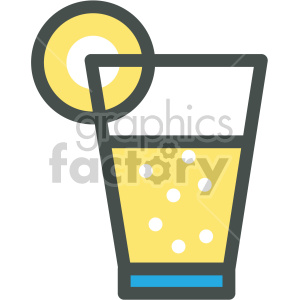 lemonade glass vector flat icons clipart. Royalty-free image # 407078
