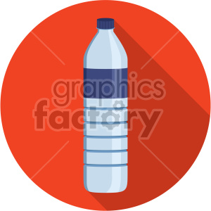 water bottle on orange circle background flat icons clipart. Royalty-free image # 407128