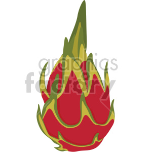 dragon fruit flat icon clip art clipart. Royalty-free image # 407194