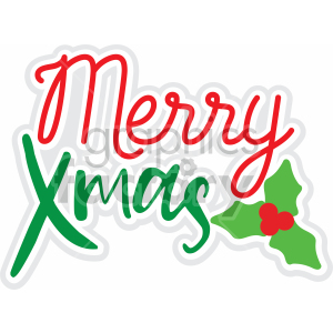 merry xmas vector svg cut file
