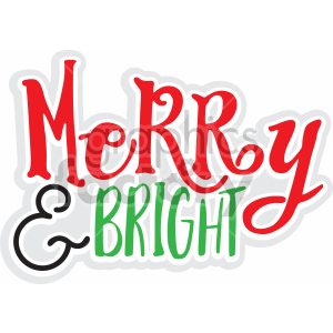 merry and bright vector svg cut file