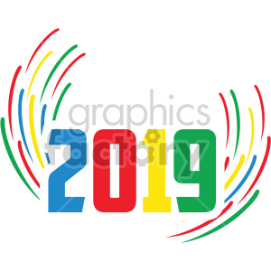 2019 burst clipart. Commercial use image # 407226